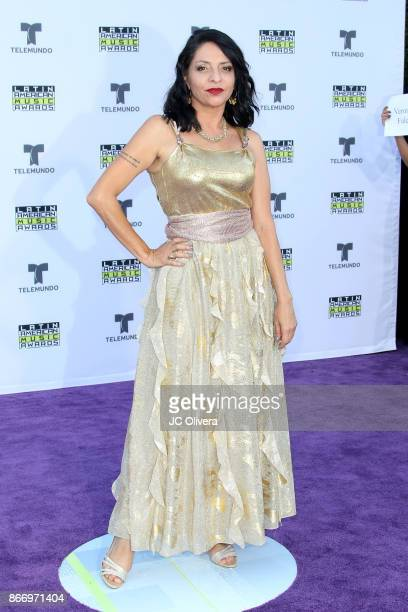 Veronica Falcon attends The 2017 Latin American Music Awards at Dolby Theatre on October 26, 2017 in Hollywood, California.