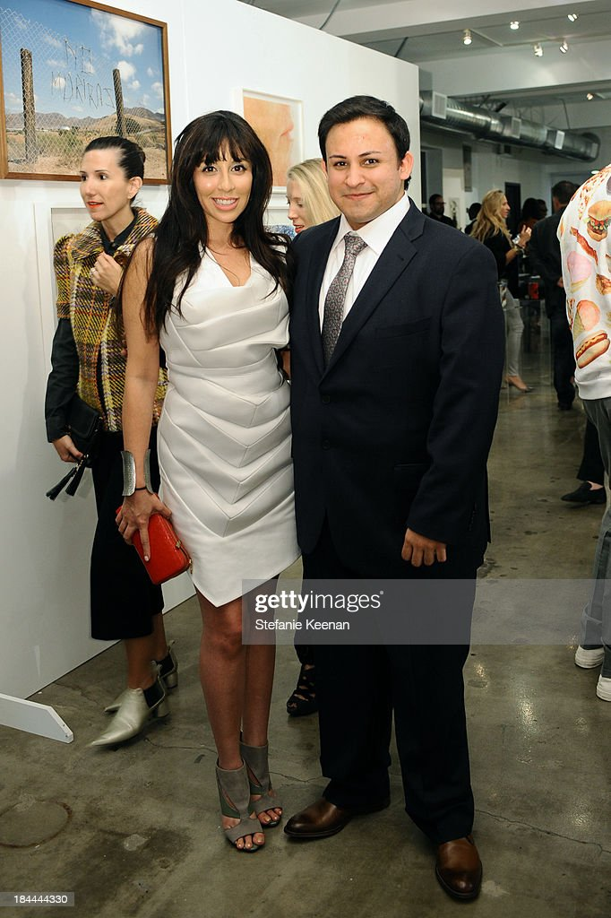 Veronica Fernandez and Cesar Garcia attend The Mistake Room's Benefit Auction on October 13, 2013 in Los Angeles, California.