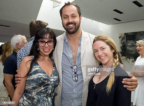 Veronica Fernandez, Justin Gilanyi and Heather Harmon attend the Rema Hort Mann Foundation conversation with Susan and Michael Hort on September 28,...