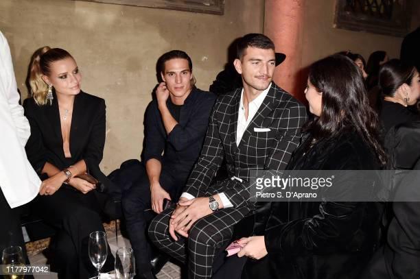Veronica Ferrari Andrea Faccio Marco Fantini and Lavinia Fuksas attend 'Giambattista Valli Loves HM Cocktail Dinatorie' on October 24 2019 in Rome...
