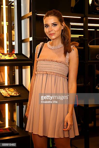 Veronica Ferraro attends Dsquared2 instore cocktail on May 30 2016 in Rome Italy
