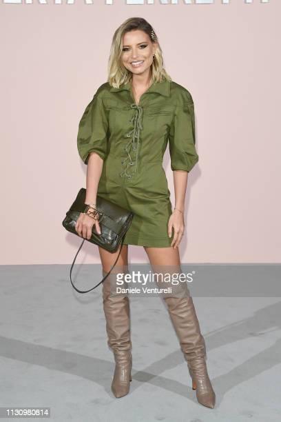 Veronica Ferraro attends the Alberta Ferretti show at Milan Fashion Week Autumn/Winter 2019/20 on February 20 2019 in Milan Italy