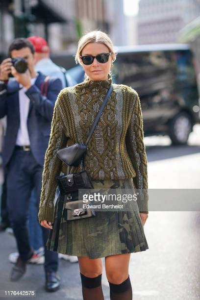 Veronica Ferraro attends the Ermanno Scervino show at Milan Fashion Week Spring Summer 2020 on September 21 2019 in Milan Italy