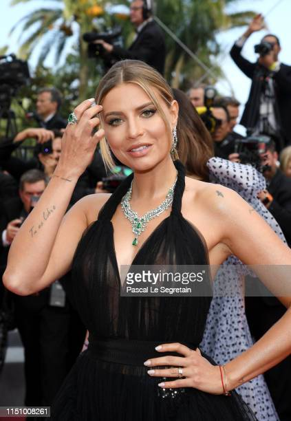 Veronica Ferraro attends the screening of Oh Mercy during the 72nd annual Cannes Film Festival on May 22 2019 in Cannes France