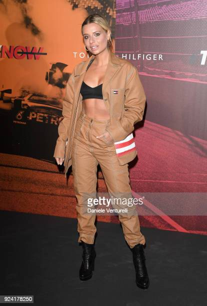 Veronica Ferraro attends the Tommy Hilfiger show during Milan Fashion Week Fall/Winter 2018/19 on February 25 2018 in Milan Italy