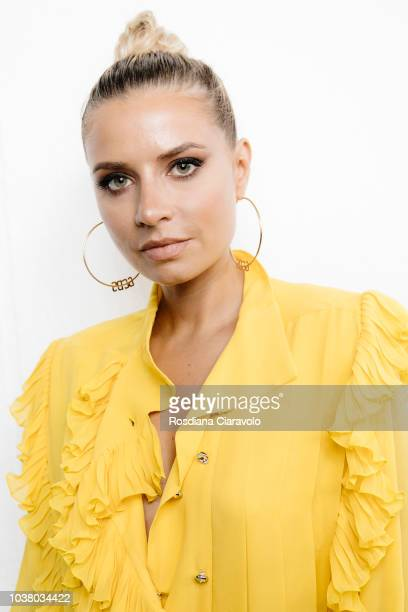 Veronica Ferraro is seen backstage ahead of the Philosophy Di Lorenzo Serafini show during Milan Fashion Week Spring/Summer 2019 on September 22 2018...