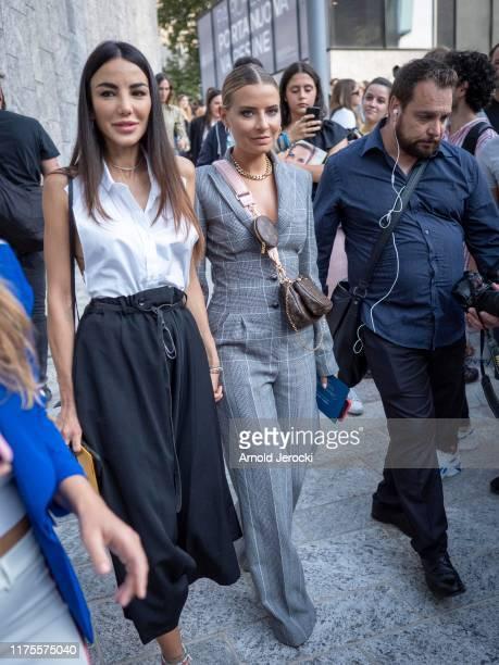 Veronica Ferraro is seen during the Milan Fashion Week Spring/Summer 2020 on September 18 2019 in Milan Italy
