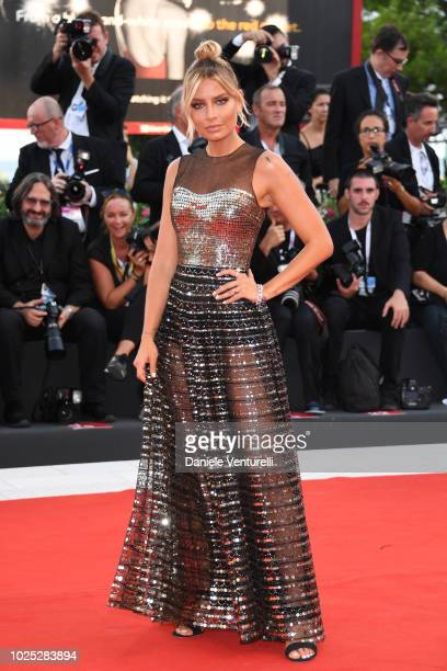 Veronica Ferraro walks the red carpet ahead of the 'Roma' screening during the 75th Venice Film Festival at Sala Grande on August 30 2018 in Venice...