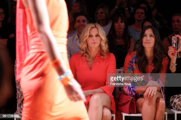 Veronica Ferres and Bettina Zimmermann during the Marc Cain Fashion Show Spring/Summer 2019 at WECC on July 3 2018 in Berlin Germany