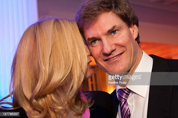 Veronica Ferres and Carsten Maschmeyer attend the Burda DLD Nightcap 2011 at the Steigenberger Belvedere hotel on January 25 2012 in Davos...