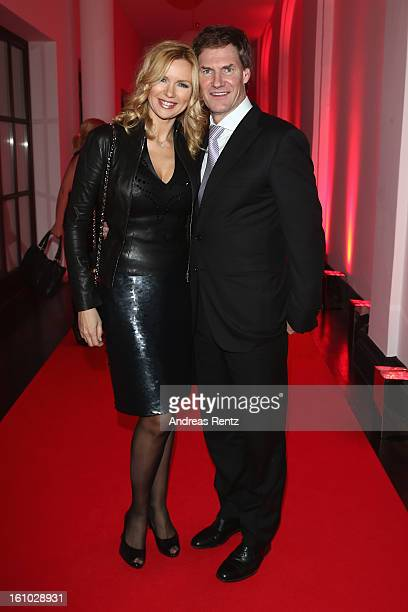 Veronica Ferres and Carsten Maschmeyer attend the Festival Night by Bunte and BMW at Humboldt Carre on February 8, 2013 in Berlin, Germany.
