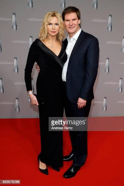 Veronica Ferres and Carsten Maschmeyer attend the German Television Award at Rheinterrasse on February 2, 2017 in Duesseldorf, Germany.
