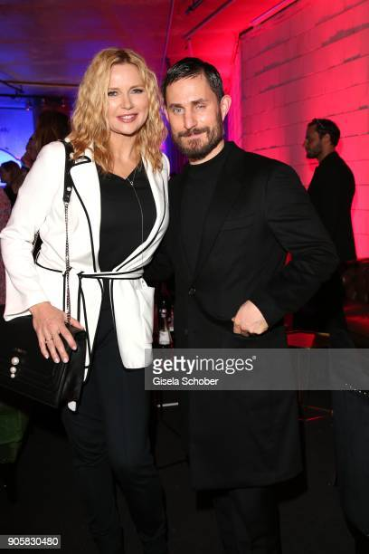 Veronica Ferres and Clemens Schick during the Marc Cain Fashion Show Berlin Autumn/Winter 2018 at metro station Potsdamer Platz at on January 16 2018...