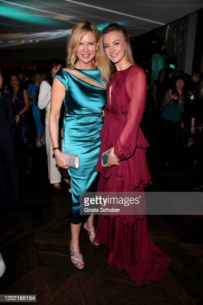 """Veronica Ferres and her daughter Lilly Krug attend the Berlin Opening Night by Bertelsmann Content Alliance at hotel """"Das Stue"""" on February 20, 2020..."""
