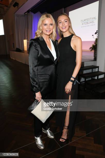Veronica Ferres and her daughter Lilly Krug during the festival night and award ceremony of the 8th Kitzbuehel Film Festival at K3 Congress Center on...