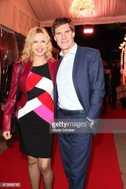 Veronica Ferres and her husband Carsten Maschmeyer during Michael Kaefer's 60th birthday celebration at Postpalast on February 2 2018 in Munich...