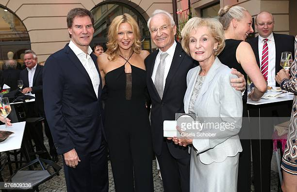 Veronica Ferres and her husband Carsten Maschmeyer , Edmund Stoiber and his wife Karin Stoiber during the Mercedes-Benz reception at 'Klassik am...