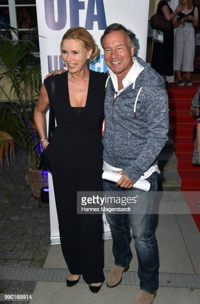Veronica Ferres and Nico Hofmann attend the UFA Fiction Reception during the Munich Film Festival 2016 at Cafe Reitschule on July 2 2018 in Munich...