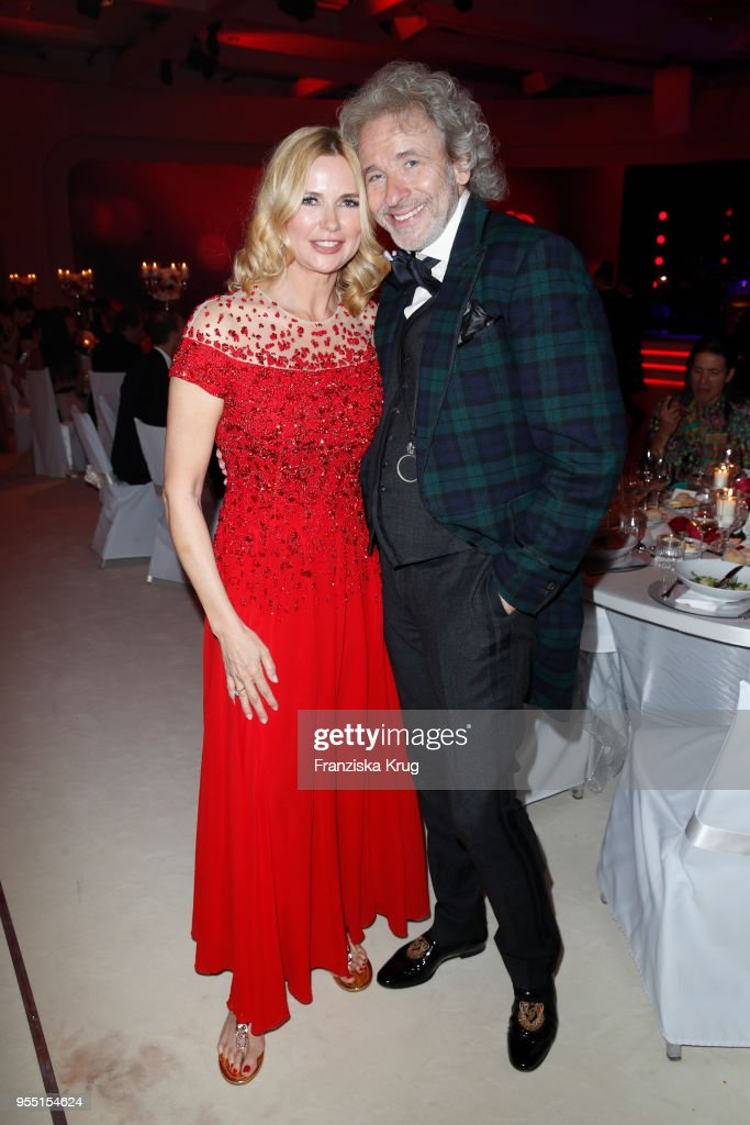 Veronica Ferres and Thomas Gottschalk during the Rosenball charity event at Hotel Intercontinental on May 5, 2018 in Berlin, Germany.