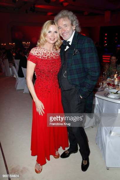Veronica Ferres and Thomas Gottschalk during the Rosenball charity event at Hotel Intercontinental on May 5 2018 in Berlin Germany