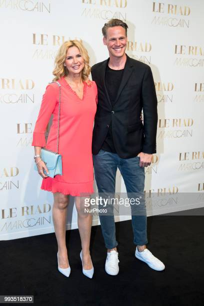 Veronica Ferres and Urs Konstantin Rouette arrive to attend the Marc Cain Fashion Show during Berlin Fashion Week Spring / Summer 2019 in Berlin...