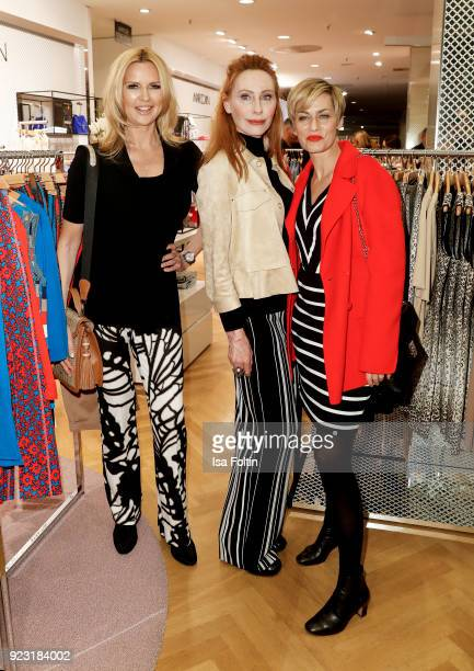 Veronica Ferres Andrea Sawatzki and Gesine Cukrowski attend the KaDeWe X Marc Cain Fashion Show Spring/Summer Collection 2018 at KaDeWe on February...
