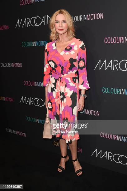 Veronica Ferres at the Marc Cain fashion show during the Berlin Fashion Week Spring/Summer 2020 at Velodrom on July 02 2019 in Berlin Germany
