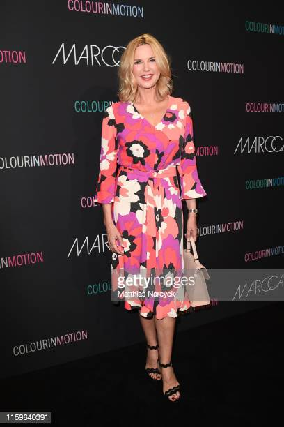 Veronica Ferres at the Marc Cain fashion show during the Berlin Fashion Week Spring/Summer 2020 at Velodrom on July 02, 2019 in Berlin, Germany.