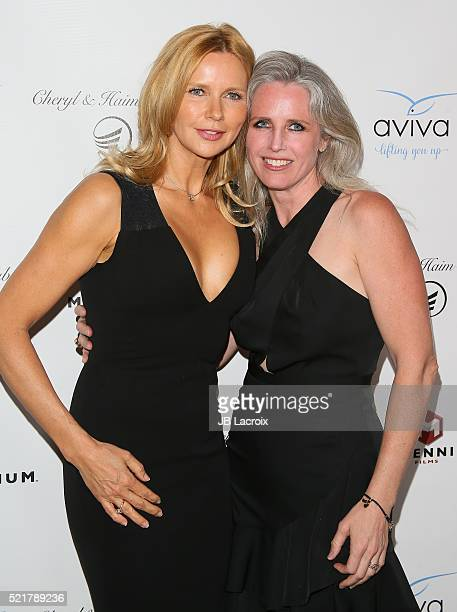 Veronica Ferres attends A Gala to honor Avi Lerner and Millennium Films at The Beverly Hills Hotel on April 16 2016 in Beverly Hills California