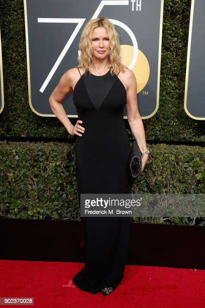 Veronica Ferres attends The 75th Annual Golden Globe Awards at The Beverly Hilton Hotel on January 7, 2018 in Beverly Hills, California.