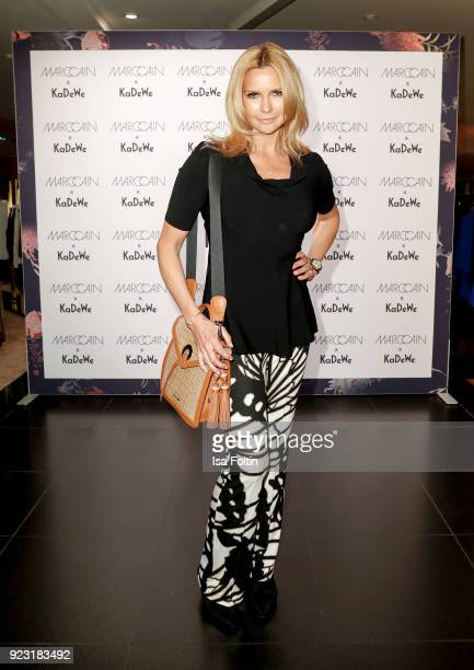 Veronica Ferres attends the KaDeWe X Marc Cain Fashion Show Spring/Summer Collection 2018 at KaDeWe on February 22 2018 in Berlin Germany