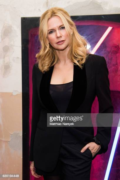 Veronica Ferres attends the Pantaflix Party during the 67th Berlinale International Film Festival Berlin at the Grand on February 13, 2017 in Berlin,...