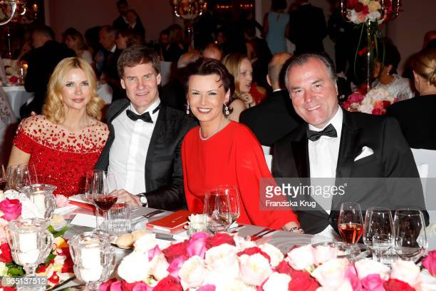 Veronica Ferres, Carsten Maschmeyer, Margit Toennies and Clemens Toennies during the Rosenball charity event at Hotel Intercontinental on May 5, 2018...