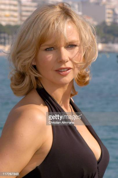 Veronica Ferres during 2004 MIPCOM - Under the Dark Sun of Africa - Photo Call at Majestic Hotel Jetty in Cannes, France.