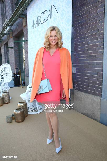 Veronica Ferres during the Marc Cain Fashion Show Spring/Summer 2019 at WEEC Westhafen on July 3 2018 in Berlin Germany