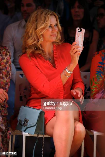 Veronica Ferres during the Marc Cain Fashion Show Spring/Summer 2019 at WECC on July 3 2018 in Berlin Germany