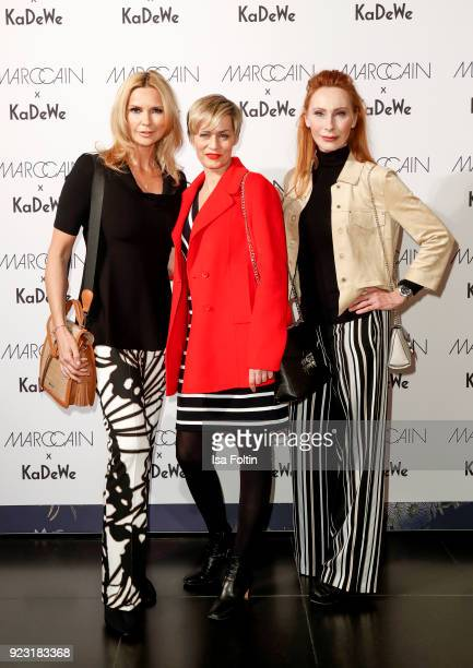 Veronica Ferres Gesine Cukrowski and Andrea Sawatzki attend the KaDeWe X Marc Cain Fashion Show Spring/Summer Collection 2018 at KaDeWe on February...