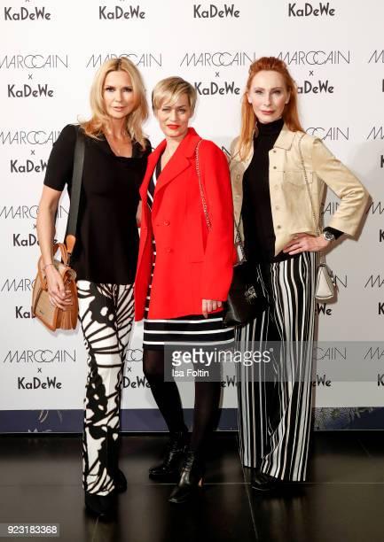 Veronica Ferres, Gesine Cukrowski and Andrea Sawatzki attend the KaDeWe X Marc Cain Fashion Show Spring/Summer Collection 2018 at KaDeWe on February...