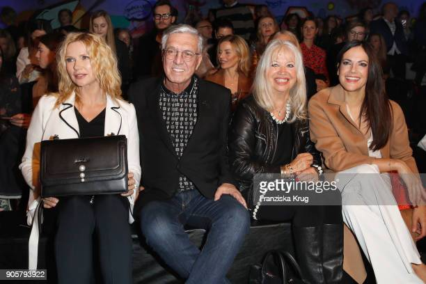 Veronica Ferres Helmut Schlotterer his wife Ute Schlotterer and Bettina Zimmermann during the Marc Cain Fashion Show Berlin Autumn/Winter 2018 at...