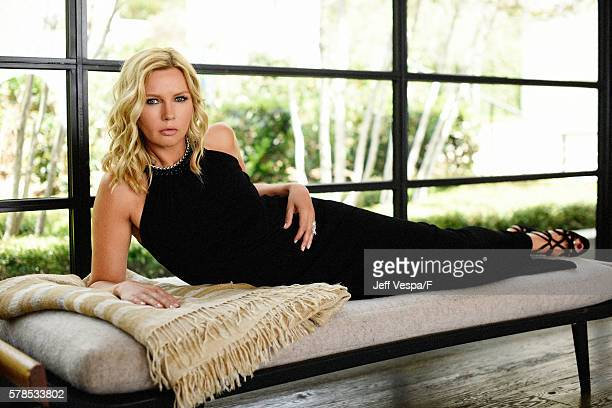 Veronica Ferres is photographed at a private residence August 13, 2015 in Malibu, California. Stylist: Cari Nelson, carinelsonstylist.com; Stylist...