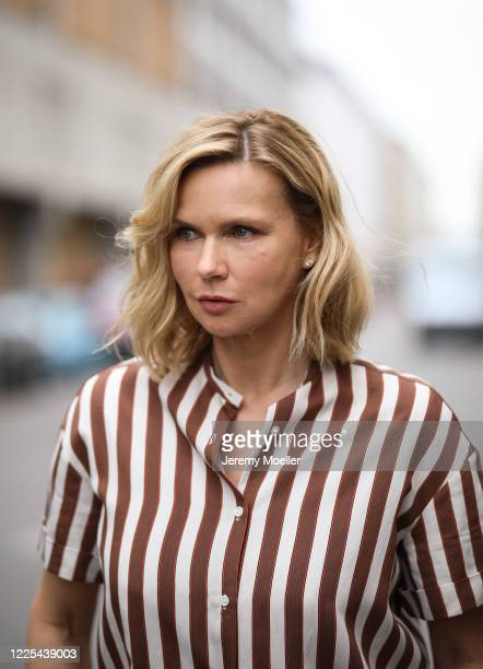 Veronica Ferres wearing on May 13, 2020 in Munich, Germany.