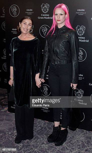Veronica Forque and Maria Forque attend Goya's party photocall at Casino Gran Madrid- Colon on March 31, 2014 in Madrid, Spain.