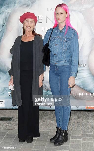 Veronica Forque and Maria Forque attend 'La Venus de las pieles' premiere photocall at Matadero Madrid theatre on May 7, 2014 in Madrid, Spain.