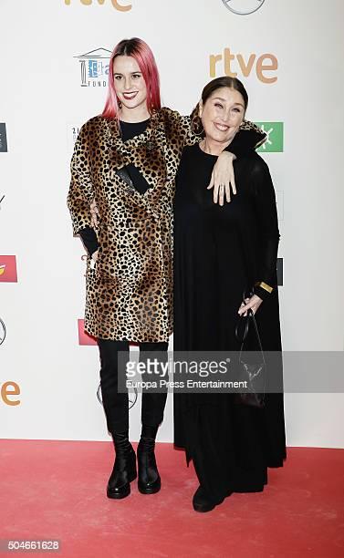 Veronica Forque and Maria Forque attend the Jose Maria Forque Awards at Palacio de Congresos on January 11, 2016 in Madrid, Spain.