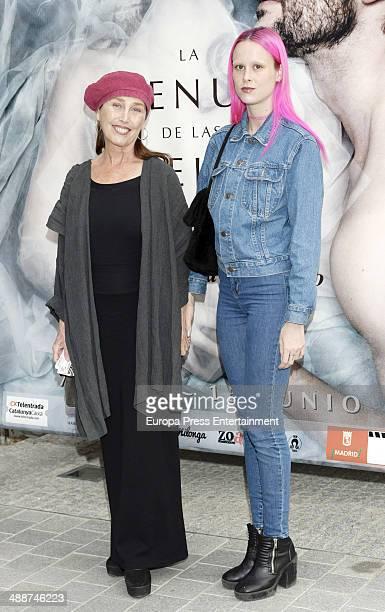 Veronica Forque and Maria Forque attend the 'La Venus de las Pieles' premiere photocall on May 7, 2014 in Madrid, Spain.