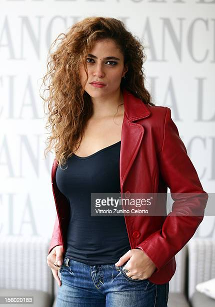 Veronica Gentili attends the 7th Rome Film Festival at Lancia Cafe on November 11 2012 in Rome Italy