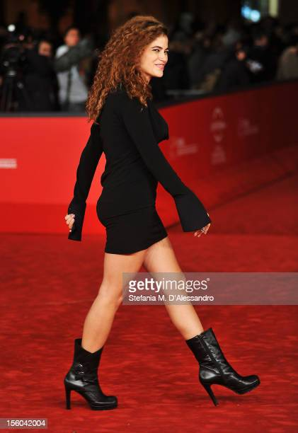 Veronica Gentili attends the L'Isola Dell'Angelo Caduto Premiere during the 7th Rome Film Festival at the Auditorium Parco Della Musica on November...