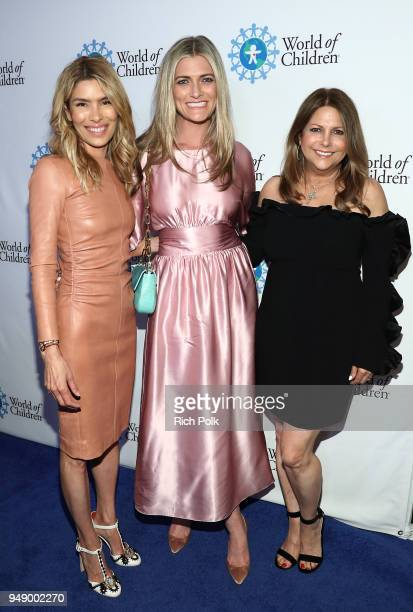 Veronica Grazer Montana Coady and Susie Sheinberg attend the 2018 World of Children Hero Awards Benefit at Montage Beverly Hills on April 19 2018 in...