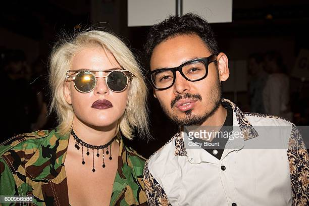 Veronica Guity and Sayid Abdullaev attend the Noon By Noor fashion show during New York Fashion Week The Gallery Skylight at Clarkson Sq on September...