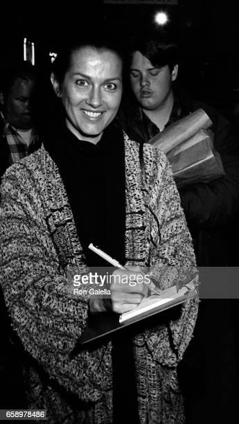 Veronica Hamel attends Sexually Abused Children Benefit on May 1 1984 at the Los Angeles Stage Company Theater in Los Angeles California